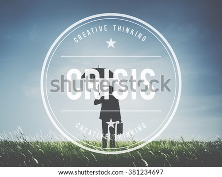 Crisis Loss Recession Disaster Business Concept - stock photo