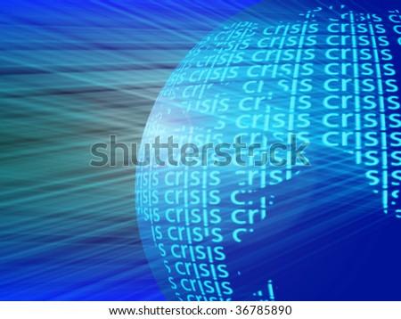 crisis on globe - stock photo
