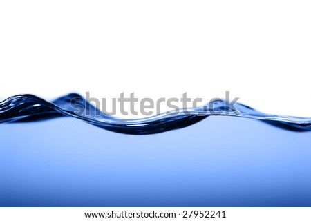 Crisp clear water photographed high speed. - stock photo
