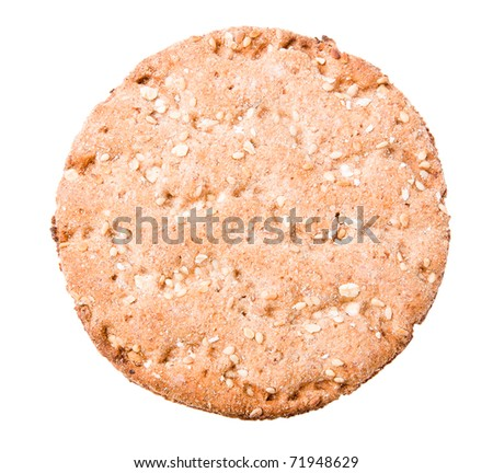 Crisp cracker isolated on white - stock photo