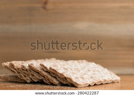 Crispbread closeup (12)  - stock photo