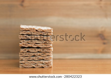 Crispbread closeup (2)  - stock photo