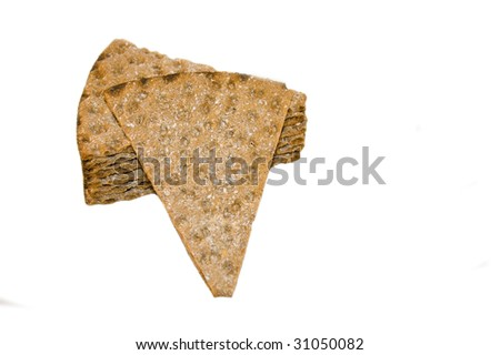 Crispbread, isolated on white - stock photo