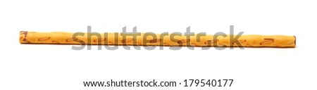 crispy bread straw on white background - stock photo