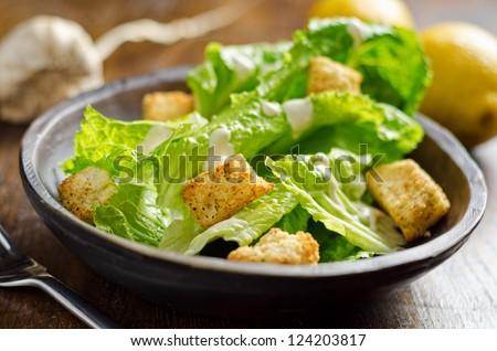 Crispy Caesar Salad - stock photo