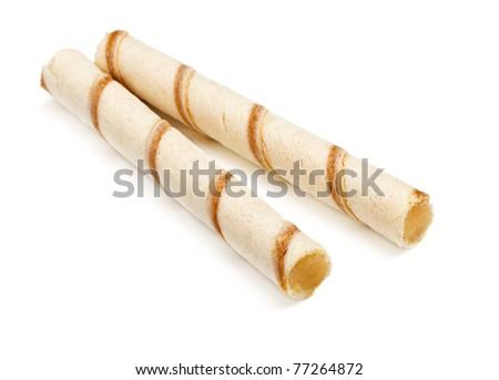 crispy cream sticks isolated on white background - stock photo