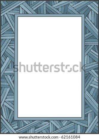 CrissCross Frame - Raster Version - stock photo