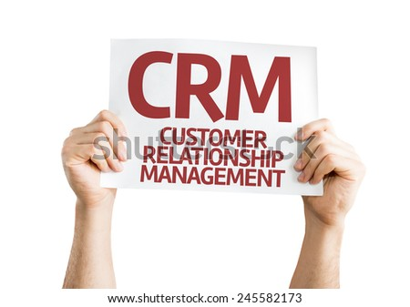 CRM card isolated on white background - stock photo