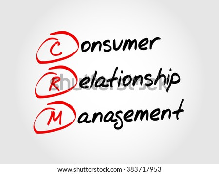 CRM Consumer Relationship Management, acronym business concept - stock photo