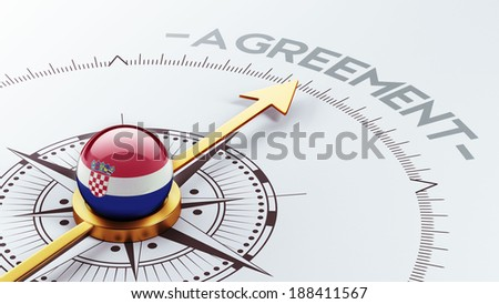 Croatia  High Resolution Agreement Concept - stock photo