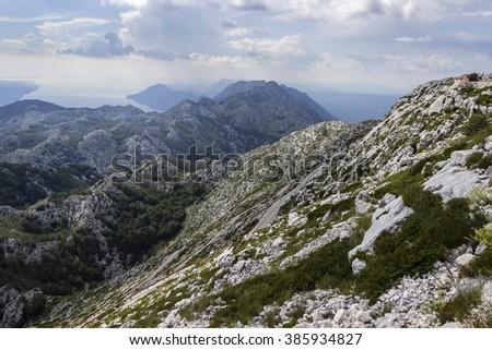 Croatia mountains. - stock photo