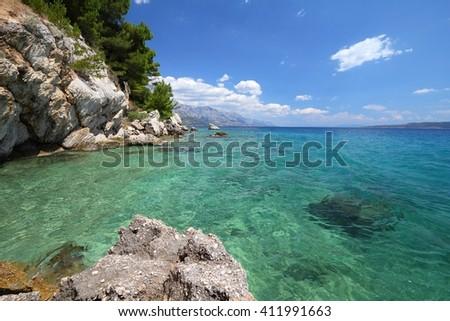 Croatia nature - Adriatic Sea coast. Marusici in Dalmatia. - stock photo