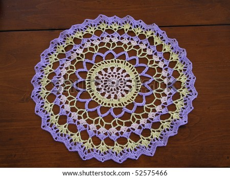 Crocheted Lace Doily - stock photo