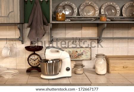 crockery and kitchen ware  set  - stock photo
