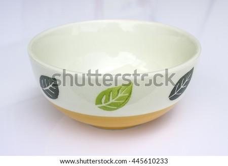 Crockery isolated white - stock photo