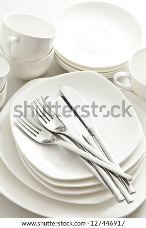 Crockery, kitchen - stock photo