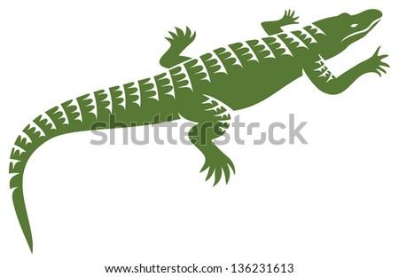 crocodile design (alligator symbol, crocodile icon) - stock photo