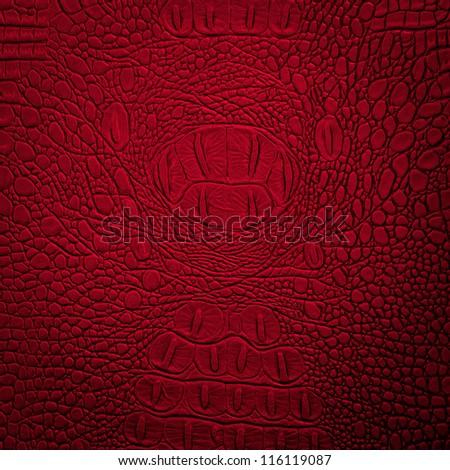 crocodile leather red - stock photo