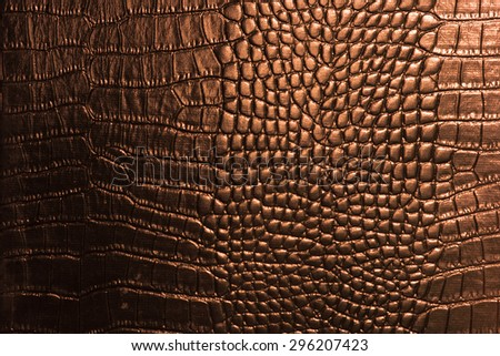 crocodile leather texture closeup background - stock photo