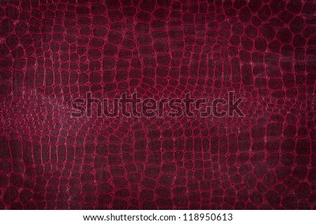 Crocodile  leather with brown color - stock photo