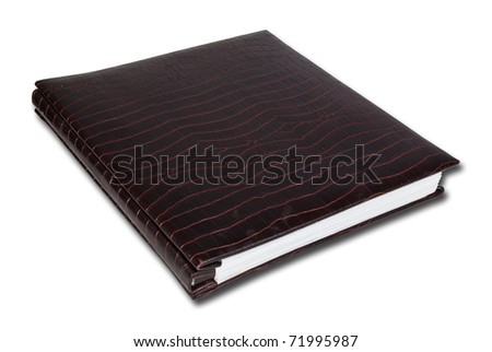 Crocodile notebook isolate on the white. - stock photo