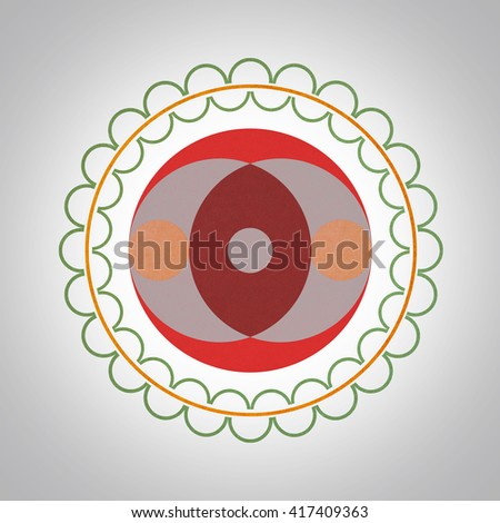 Crop circle abstract design ,Isolation paper craft, - stock photo