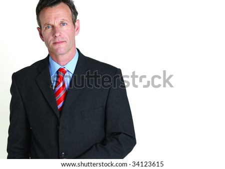 Cropped portrait of senior businessman - stock photo