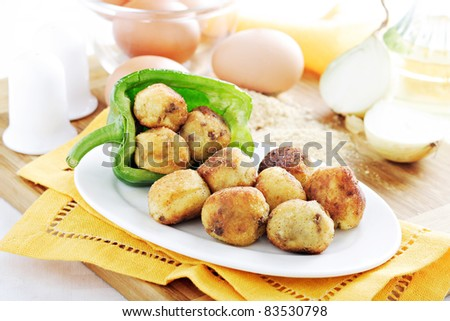 croquette - stock photo