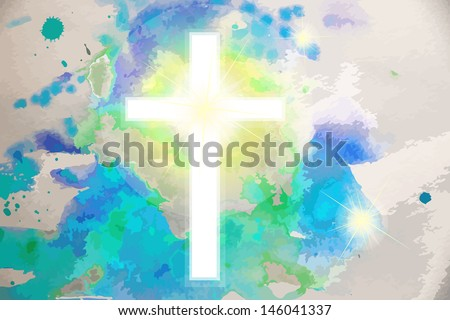 cross against the sky . Raster - stock photo
