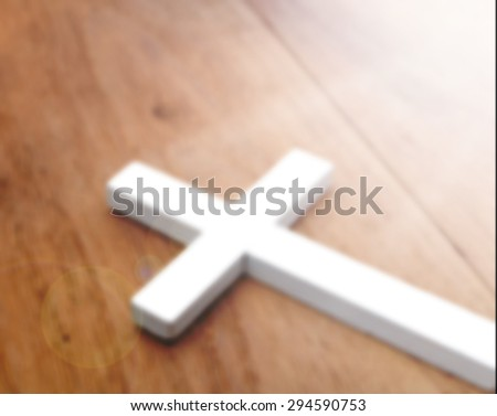 Cross blured for background - stock photo