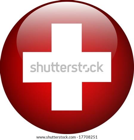 cross button - stock photo