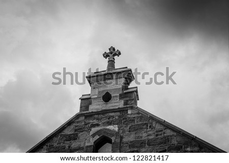Cross Church - stock photo