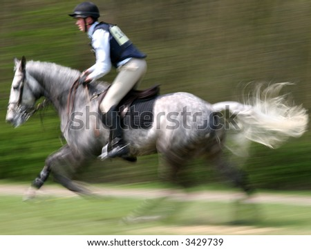 Cross Country Competitor - stock photo