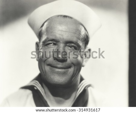 Cross eyed sailor - stock photo
