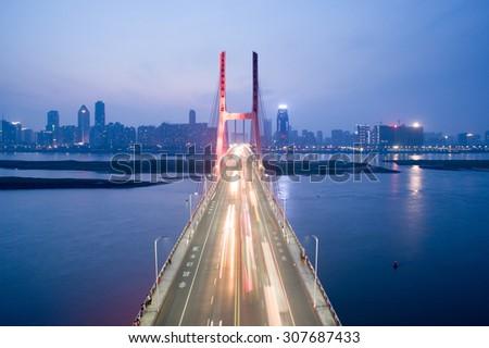 Cross River Bridge - stock photo