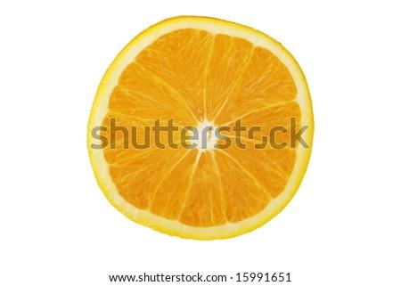 Cross section of a fresh orange - stock photo