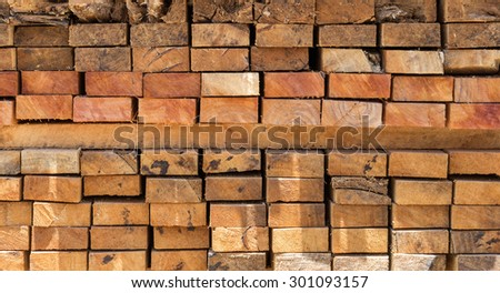 Cross section of sawn timber - stock photo