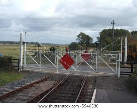 Crossing Gates - stock photo