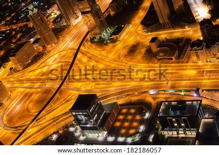 Crossing in Dubai (United Arab Emirates) - stock photo