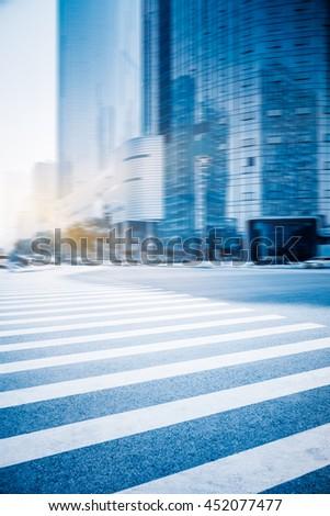 crossroads of city - stock photo