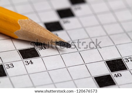 crossword - stock photo
