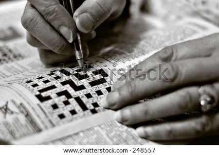 crossword - stock photo