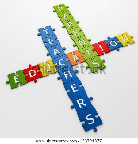crossword education - stock photo