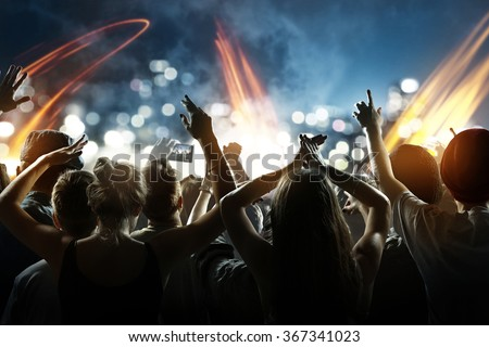 Crowd at a concert - stock photo