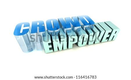 Crowd Empower - stock photo