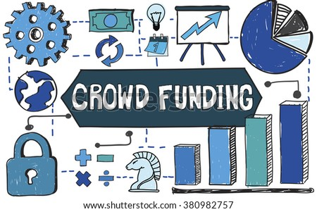 Crowd Funding Business Finance Concept - stock photo