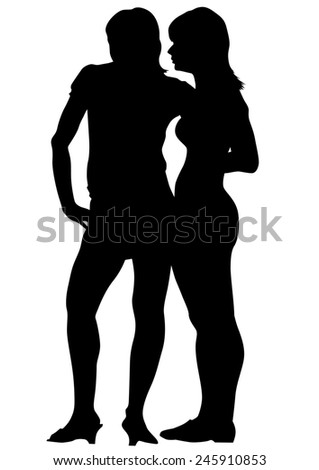 Crowd of young girls on white background - stock photo