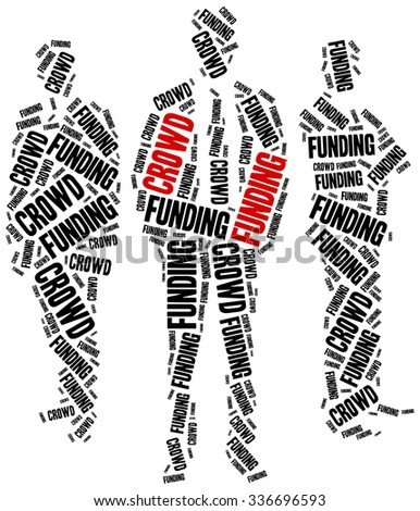 Crowdfunding, fundraising or social financing of business ideas. - stock photo