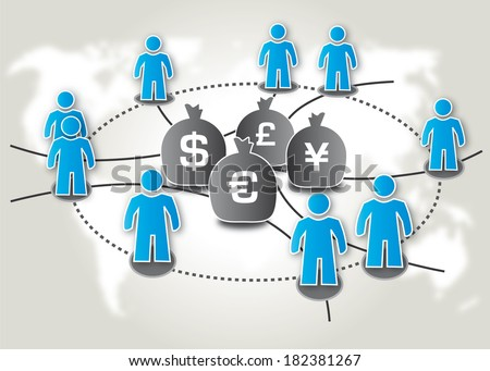 Crowdsourcing is the practice of obtaining needed services, ideas, or content by soliciting contributions from a large group of people, and especially from an online community - stock photo