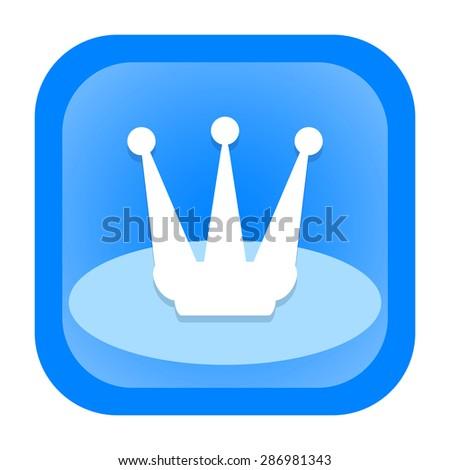 Crown icon - stock photo